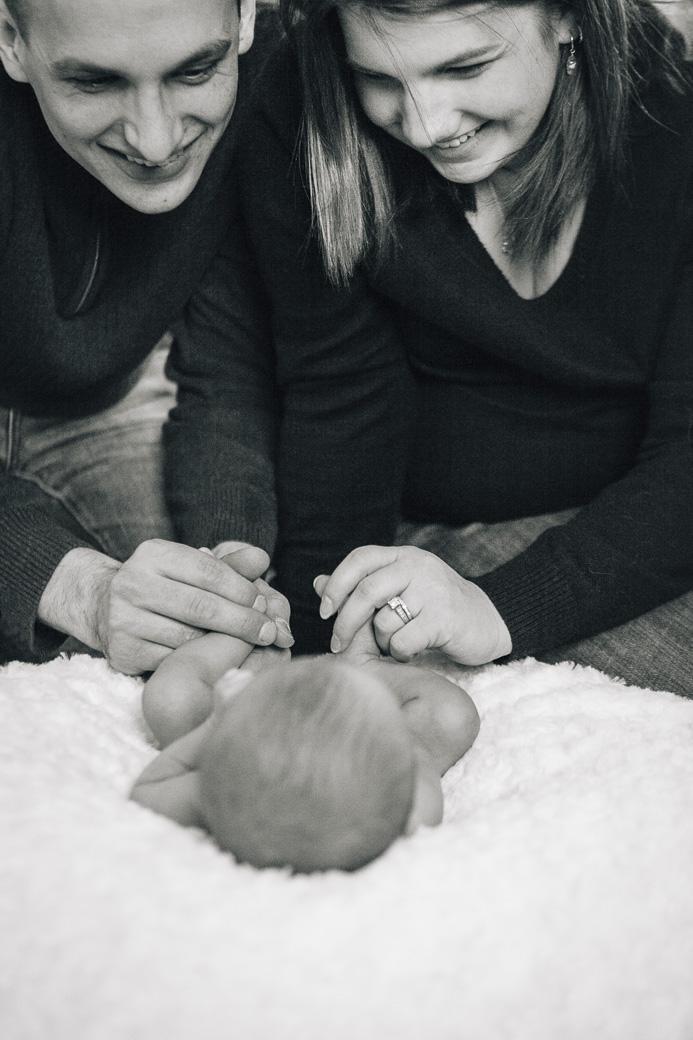 Newborn portraits of Bridget Wlosinski at her family home in Buffalo, NY, March 1, 2014.