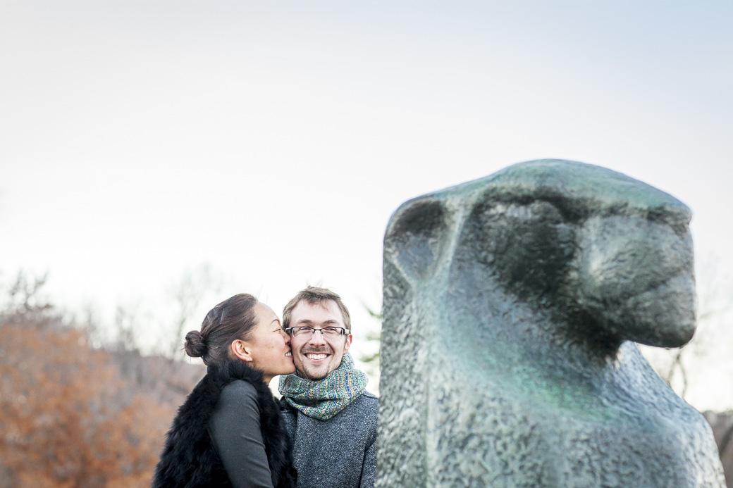 Alex Shank proposes to Michele Joo at the Netherlands Carillon in Arlington, VA, November 28, 2014.