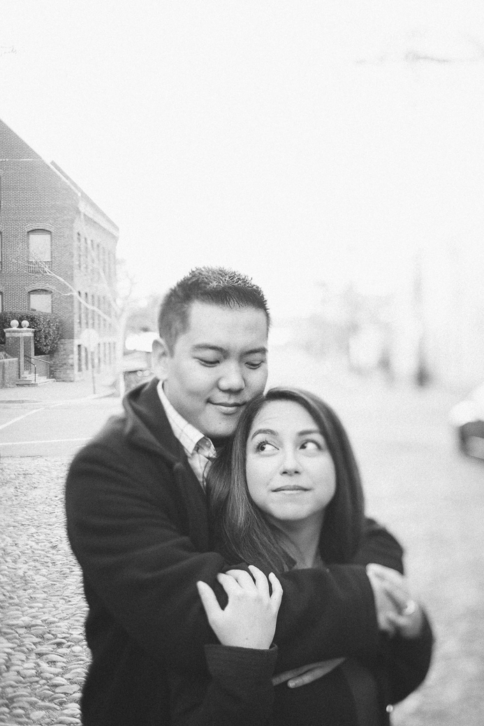 Contessa and Will's engagement photos in Old Town Alexandria, Virginia and Meadowlark Botanical Gardens, Vienna, Virginia. April 12, 2015