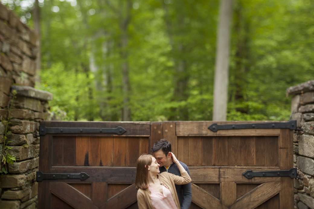 The engagement photos of Samantha Revetta and Eric Ottenheimer in Georgetown, Washington, DC. May 9, 2015.