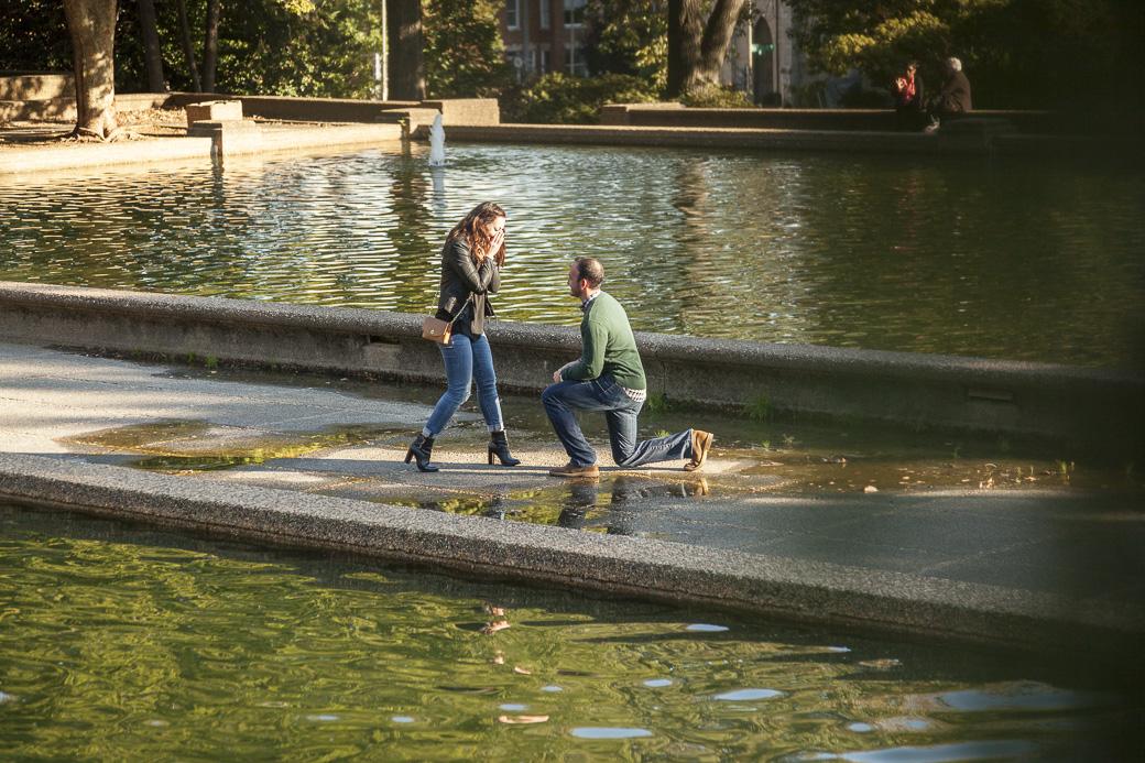 Chris Murphy proposes to Ariana Hasserjian at Meridian Hill Park, Washington, DC, October 15, 2015.