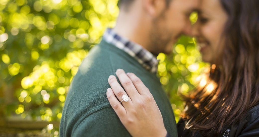 tilt shift engagement ring photo