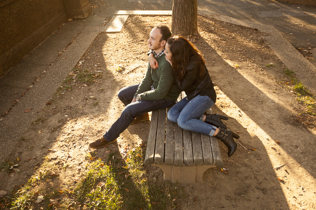 Chris Murphy proposes to Ariana Hasserjian at Meridian Hill Park, Washington, DC, October 15, 2015.