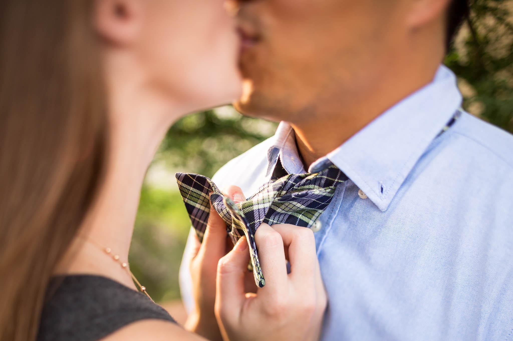bowtie kiss engagement