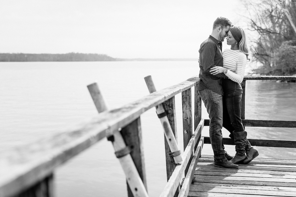 sexy intimate engagement portraits
