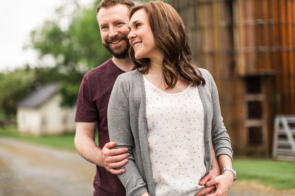 authentic rustic engagement photos