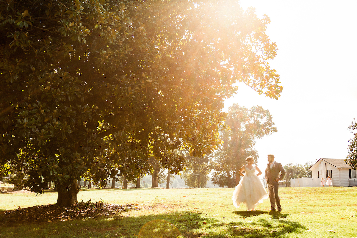 sunflare glare magnolia warm wedding