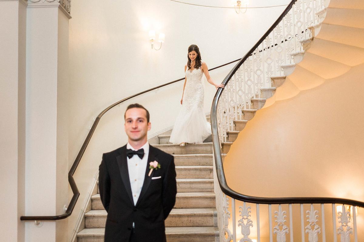 elegant hotel first look bowtie