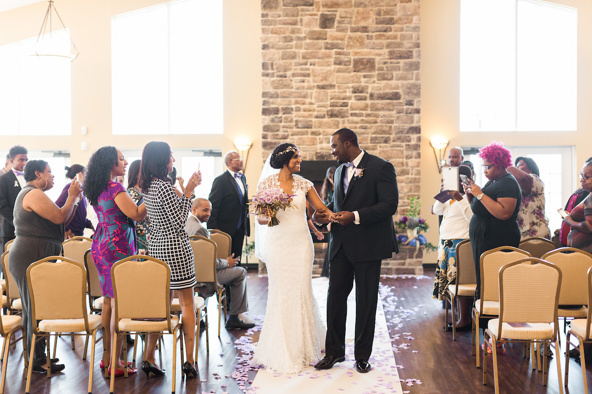 winery recessional wedding african american