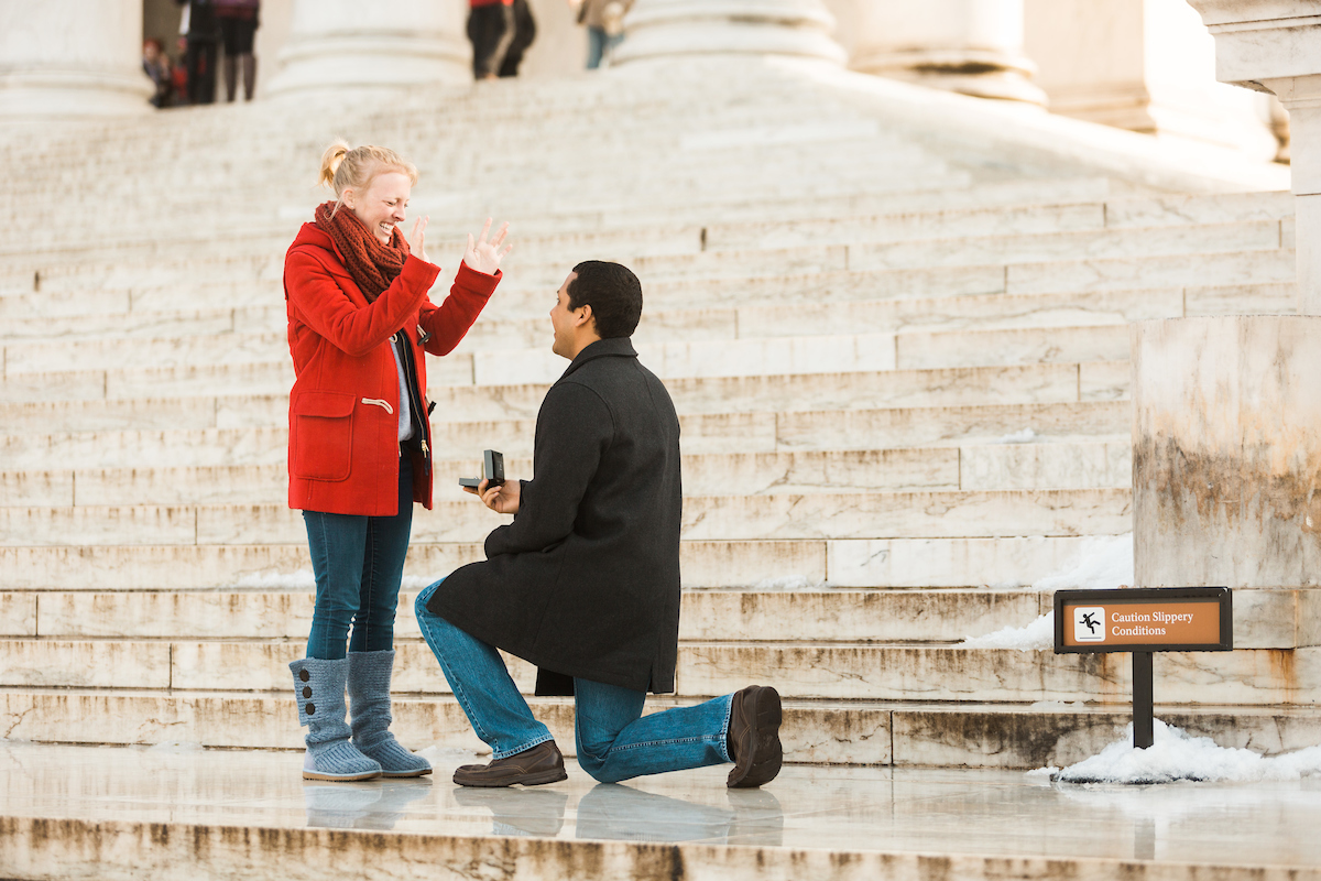 elated surprise proposal dc