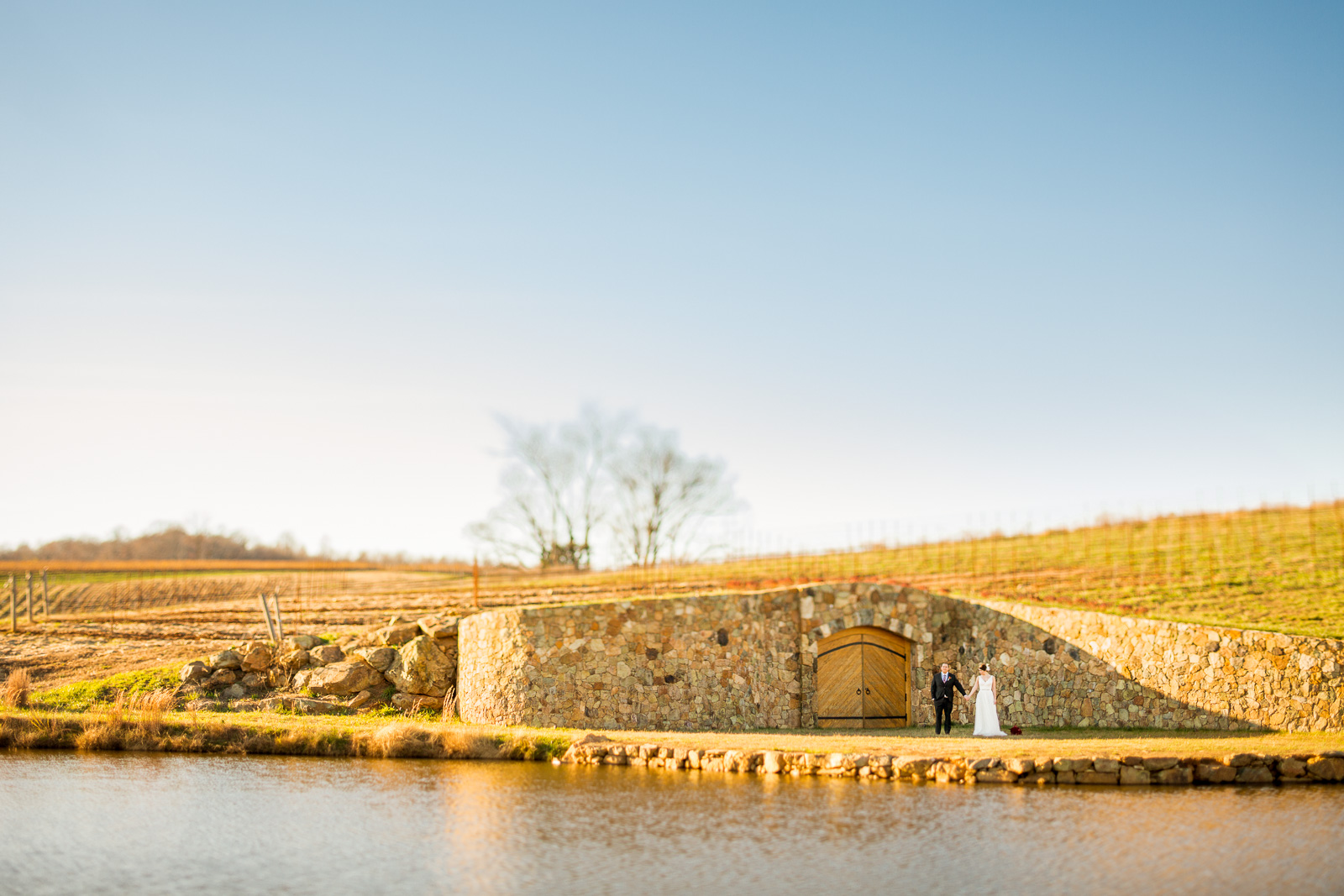 romantic countryside winery wedding stone tower winery