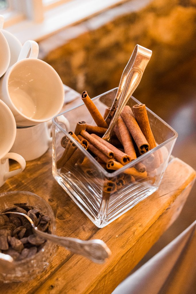 unique reception details to go bar cinnamon sticks coffee bar