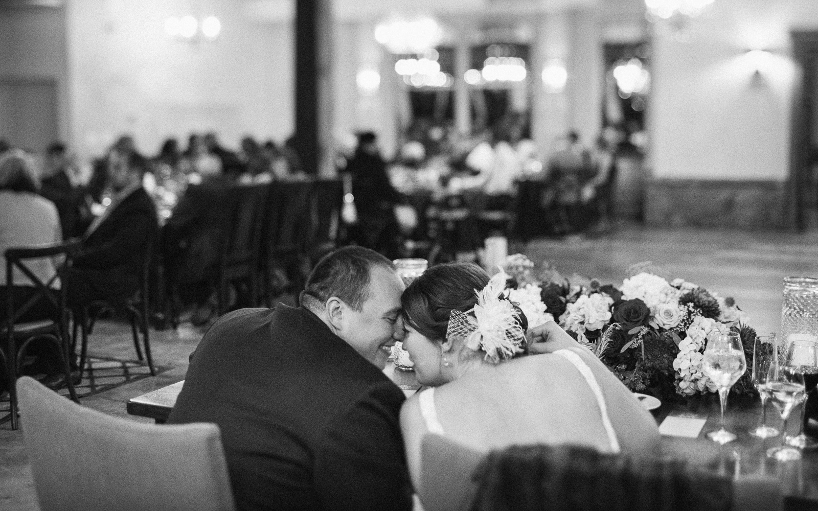 sentimental moment wedding reception