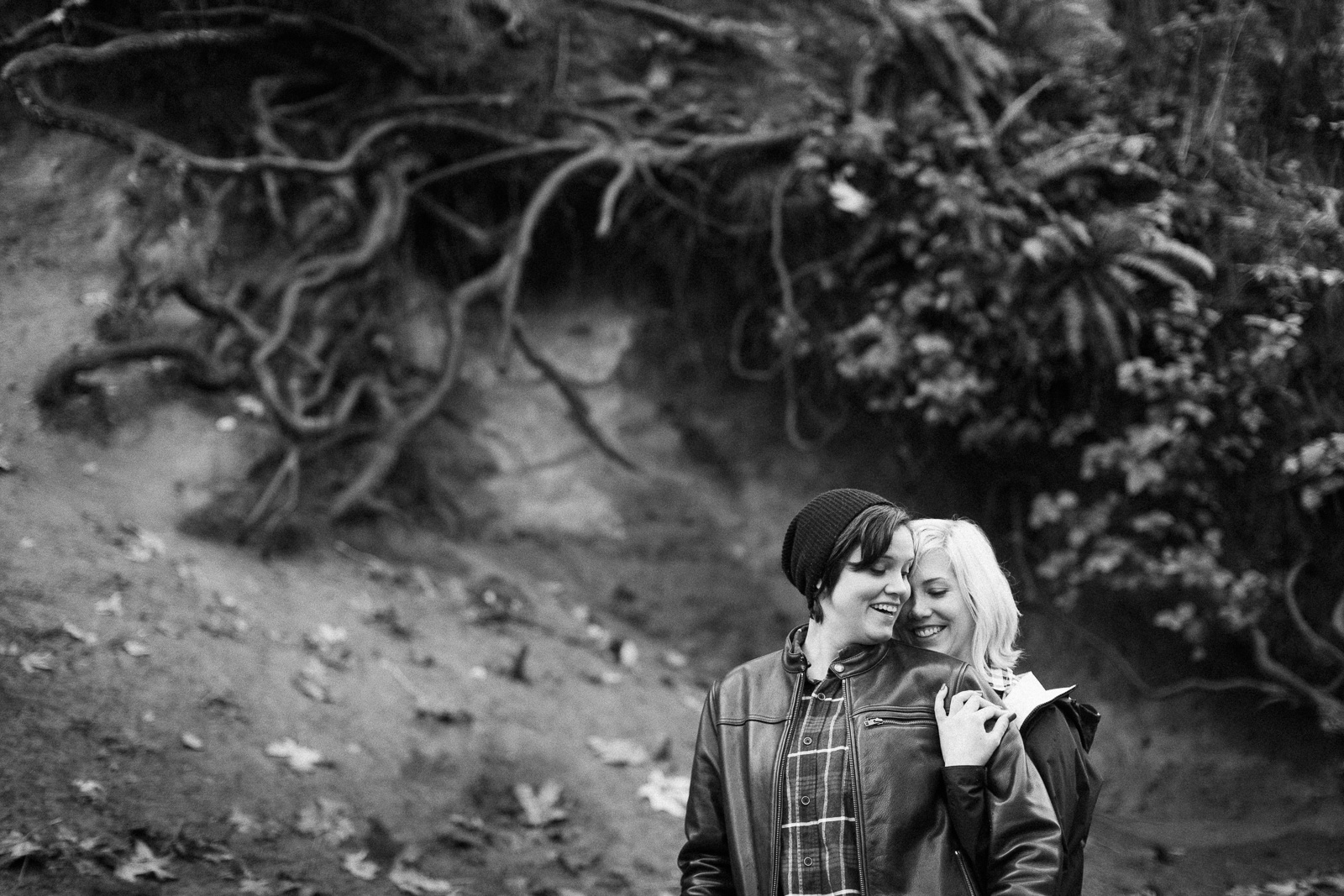 coastal seattle engagement photos