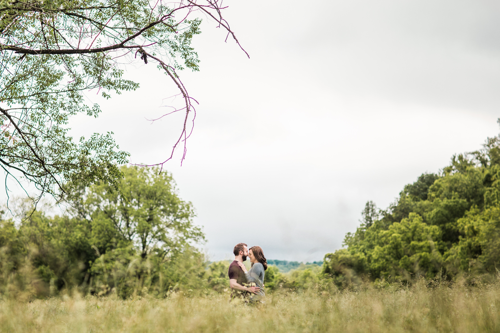 riverside field farm engagement photos