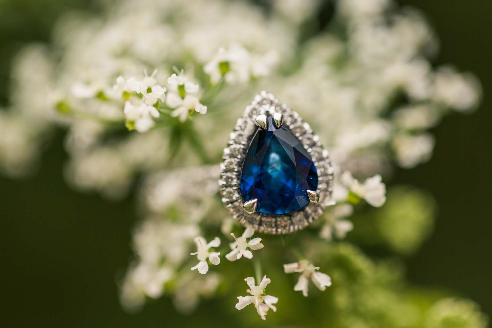 sapphire teardrop engagement ring