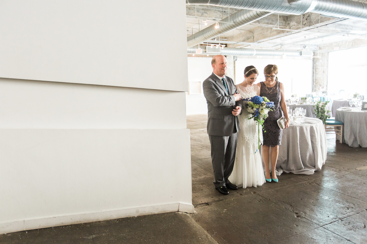 industrial art gallery venue ceremony bride