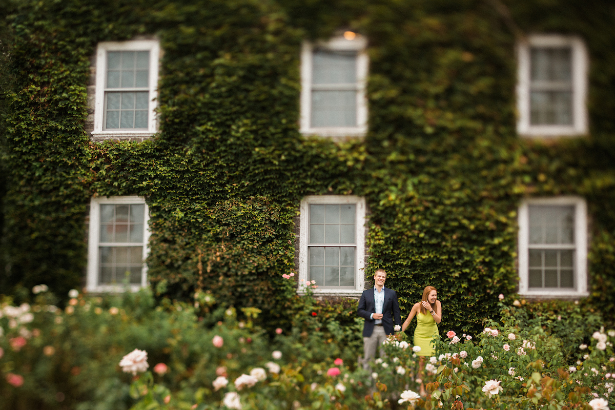 romantic garden proposal vine covered