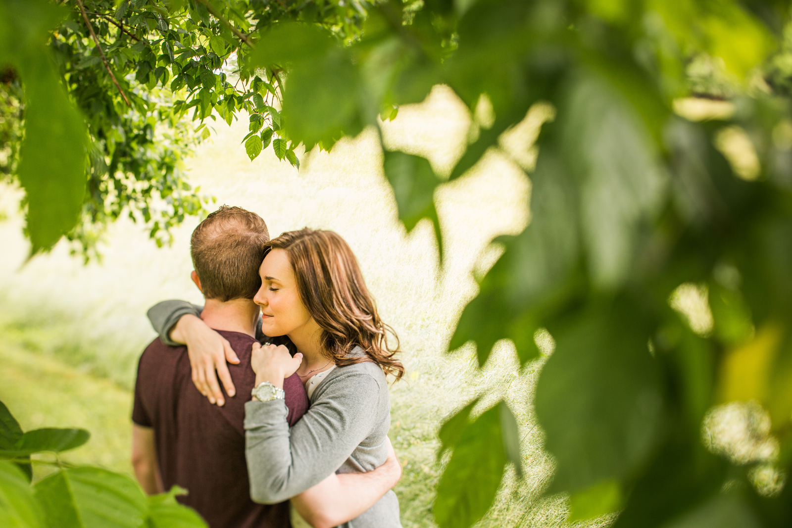 Tori Young and Steven Gillespie's romantic country engagement session at the Historic Riverview on the James in historic Lynchburg, Virginia.