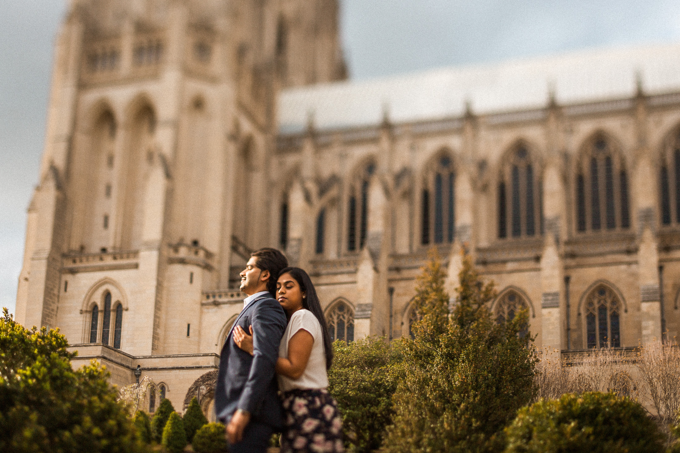 The marriage proposal of Moin Syed and Nicole Thamby at the Bishop's Garden at the National Cathedral in Washington, DC March 28, 2017.