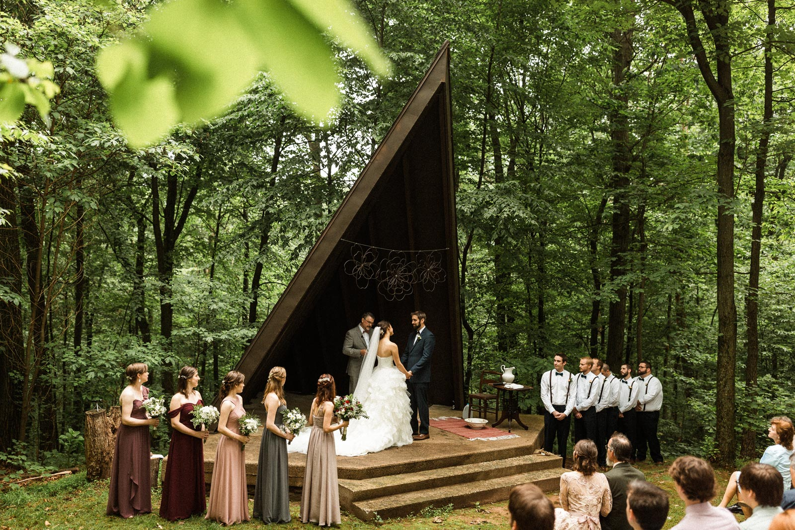 The wedding of Dale Miller and Elizabeth Mae Smith at Camp Mack in Newmanstown, Pennsylvania.